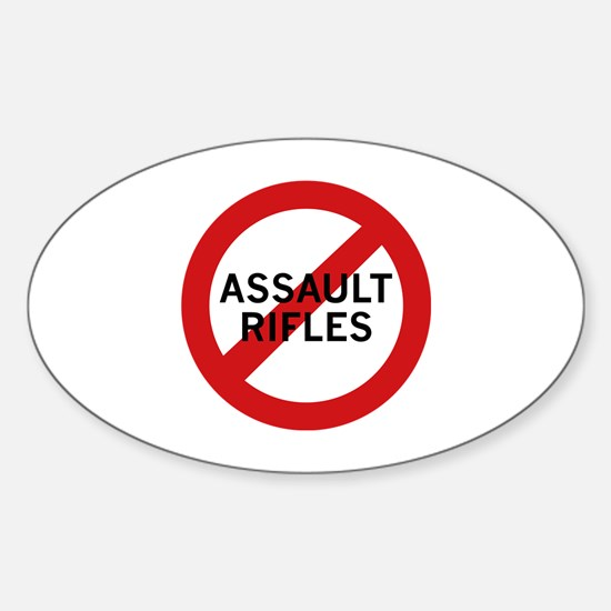 Ban Assault Rifles Sticker (Oval)