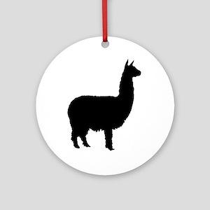 alpaca Ornament (Round)