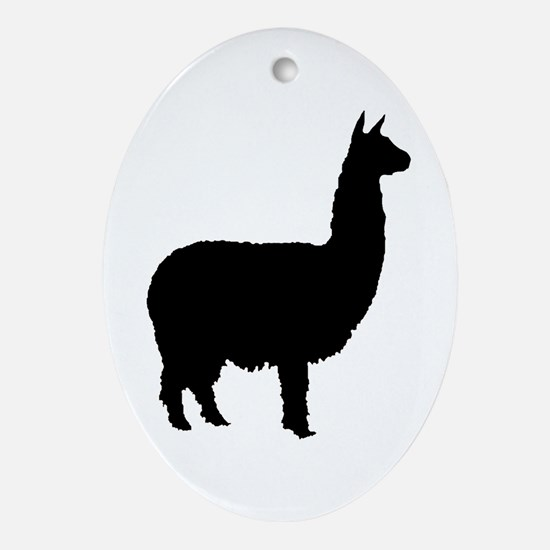 alpaca Oval Ornament