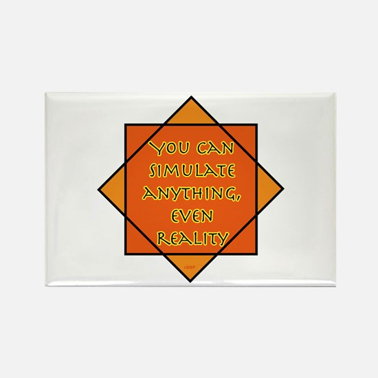 Simulated Reality Rectangle Magnet