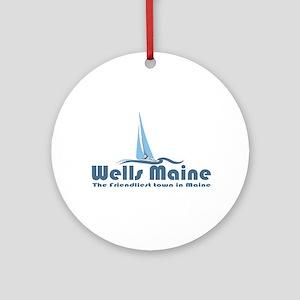 Wells Maine Ornament (Round)