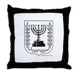 Jerusalem / Israel Emblem Throw Pillow