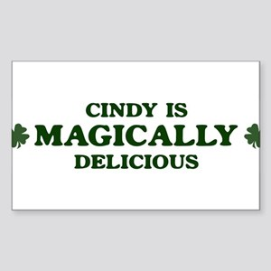 Cindy is delicious Rectangle Sticker