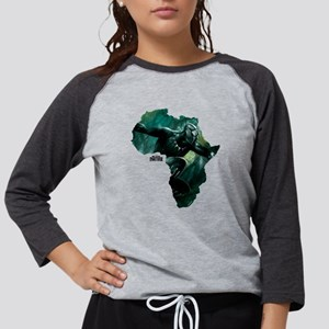 Black Panther Africa Womens Baseball Tee