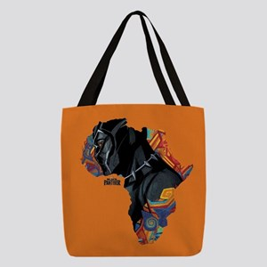 Black Panther Africa Polyester Tote Bag