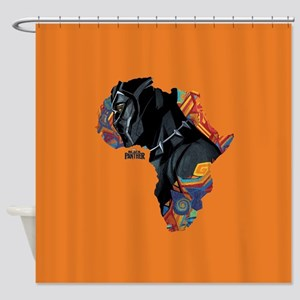 Black Panther Africa Shower Curtain