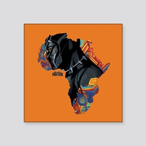 "Black Panther Africa Square Sticker 3"" x 3"""