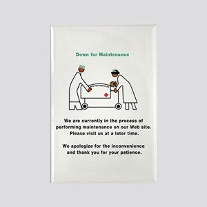 Down for Maintenance Rectangle Magnet