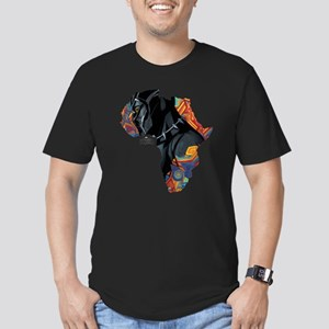 Black Panther Africa Men's Fitted T-Shirt (dark)