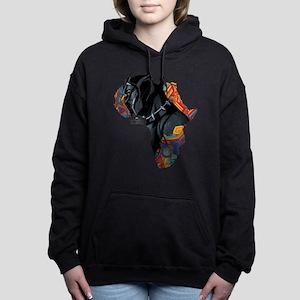 Black Panther Africa Women's Hooded Sweatshirt