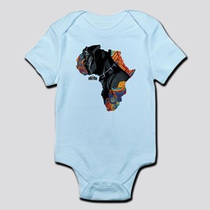 Black Panther Africa Baby Light Bodysuit