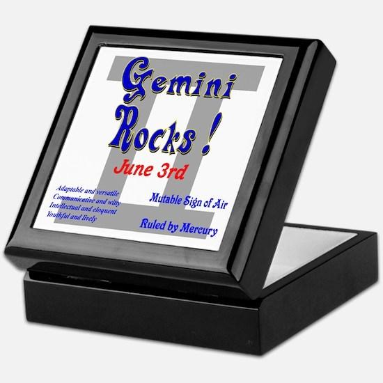 Gemini June 3rd Keepsake Box