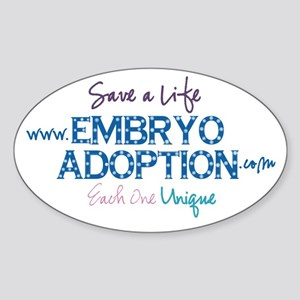 Embryo Adoption Awareness Oval Sticker