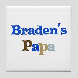 Braden's Papa Tile Coaster