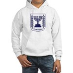 Jerusalem / Israel Emblem Hooded Sweatshirt