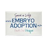 Embryo Adoption Awarenes Rectangle Magnet