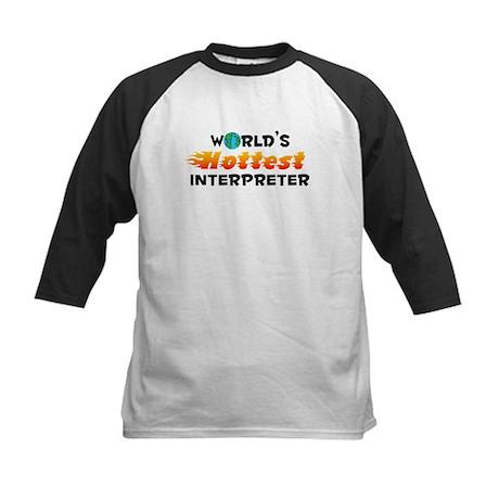World's Hottest Inter.. (C) Kids Baseball Jersey