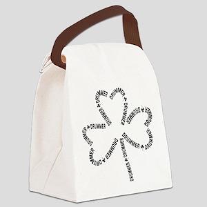 Drummer Text Shamrock Canvas Lunch Bag