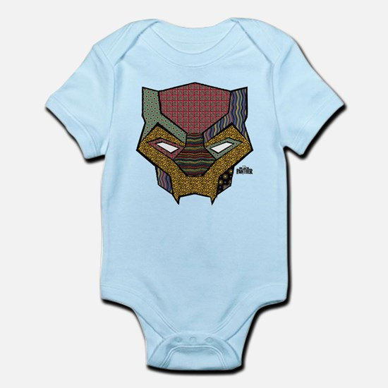 Black Panther Mask Baby Light Bodysuit