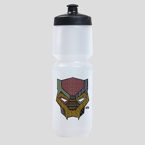 Black Panther Mask Sports Bottle
