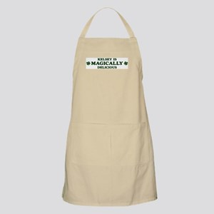 Kelsey is delicious BBQ Apron