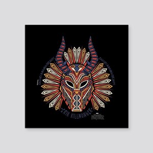 "Black Panther Killmonger Square Sticker 3"" x 3"""