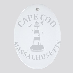 Summer cape cod- massachusetts Oval Ornament