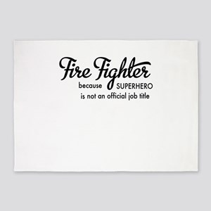 Fire Fighter 5'x7'Area Rug