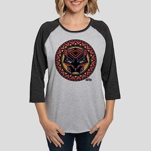 Black Panther Circle Mask Womens Baseball Tee