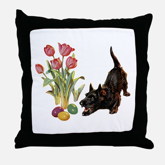 EASTER SCOTTIE Throw Pillow