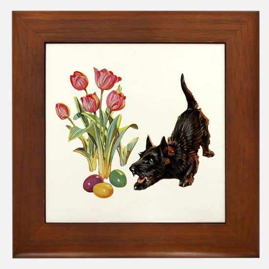 EASTER SCOTTIE Framed Tile