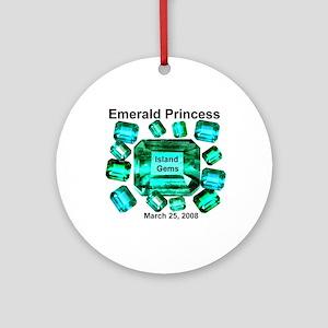Emerald Princess Island Gems - Ornament (Round)