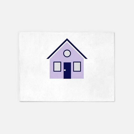 house 5'x7'Area Rug