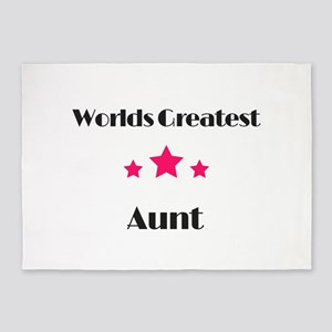 Worlds Greatest Aunt 5'x7'Area Rug