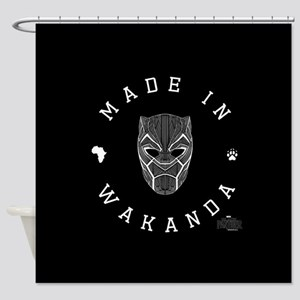 Black Panther Made Shower Curtain