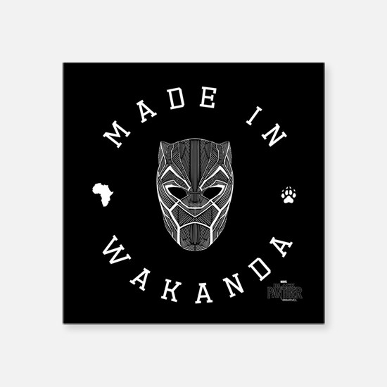 """Black Panther Made Square Sticker 3"""" x 3"""""""