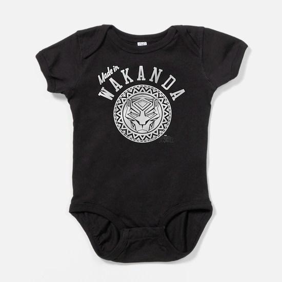 Black Panther Made Circle Baby Bodysuit