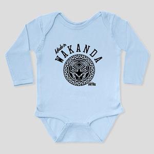 Black Panther Made Cir Long Sleeve Infant Bodysuit