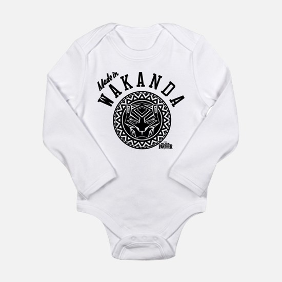 Black Panther Made Cir Long Sleeve Infant Bodysuit