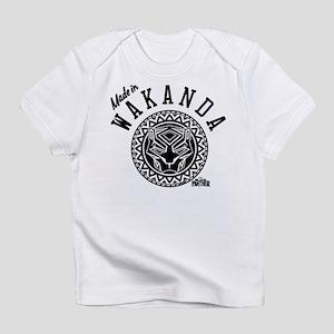 Black Panther Made Circle Infant T-Shirt