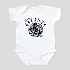 Black Panther Made Circle Baby Light Bodysuit