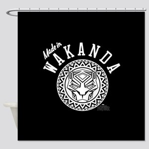 Black Panther Made Circle Shower Curtain