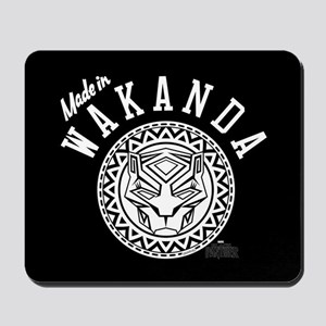 Black Panther Made Circle Mousepad