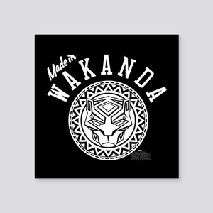 "Black Panther Made Circle Square Sticker 3"" x 3"""