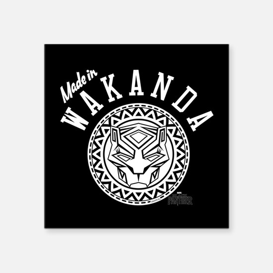 "Black Panther Made Circle Square Sticker 3"" x 3"""