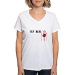 Tap Here MMA Women's V-Neck T-Shirt