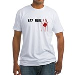 Tap Here MMA Fitted T-Shirt