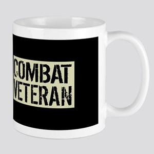 Combat Veteran: Black Military U 11 oz Ceramic Mug