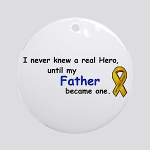 MY FATHERS A HERO/SARCOMA CANCER Ornament (Round)