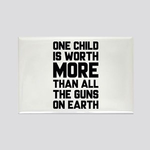 One Child Is Worth More Rectangle Magnet
